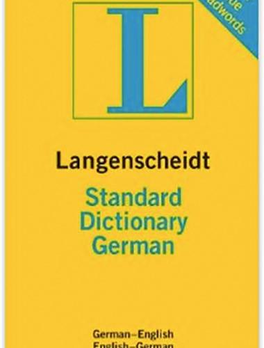 Langenscheidt Standard Dictionary German Image