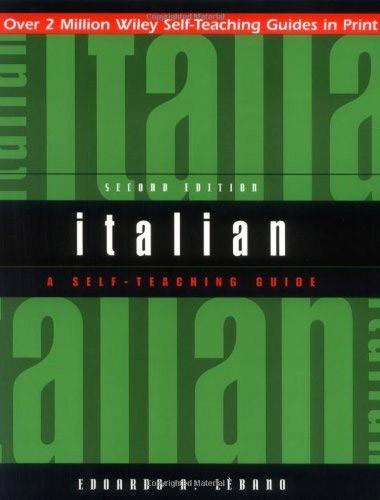Italian: A Self-Teaching Guide Image