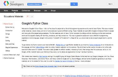 Googles Python Class