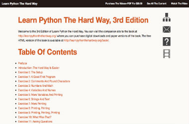 Learn Python The Hard Way HTML Version